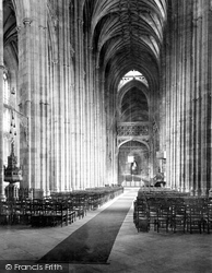 Canterbury, Cathedral, Nave East 1933
