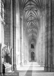 Canterbury, Cathedral, North Aisle Nave 1888