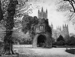 Canterbury, Cathedral Northside And Gate c.1868