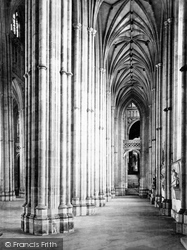 Canterbury, Cathedral, South Aisle Nave c.1862
