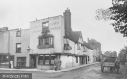 Canterbury, Flying Horse Inn, Dover Street 1886