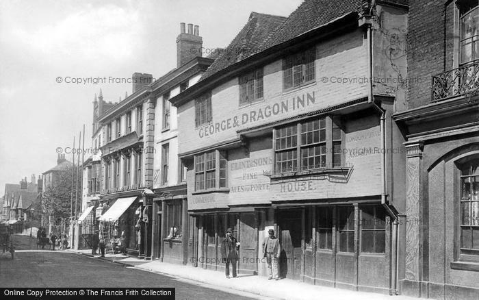 Canterbury, George And Dragon Inn, High Street c.1895