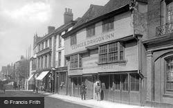 George And Dragon Inn, High Street c.1895, Canterbury