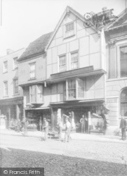 Canterbury, High Street Near Guildhall 1886