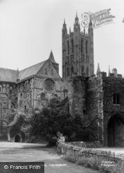 Canterbury, The Cathedral c.1955