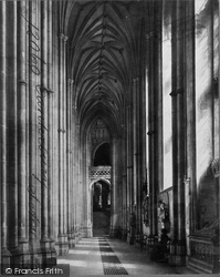 Canterbury, The Cathedral, South Aisle c.1875