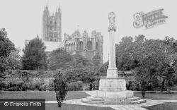 Canterbury, The Cathedral & The Kent War Memorial 1924