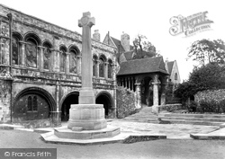 The Cathedral, The Norman Stair & Kings School War Memorial 1924, Canterbury