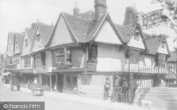 Canterbury, The Old Weavers House, King's Bridge 1886