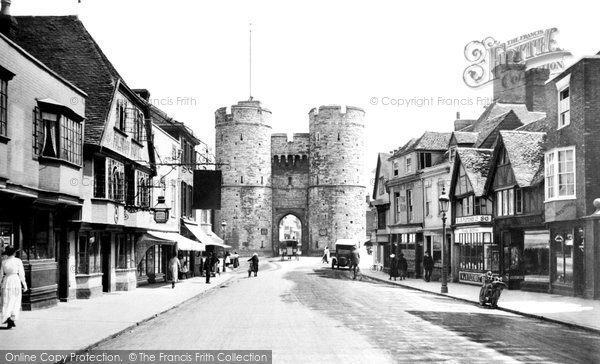 Canterbury, West Gate and St Dunstan's Street 1921