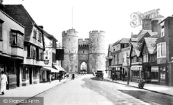West Gate And St Dunstan's Street 1921, Canterbury