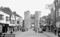 West Gate And St Dunstan's Street 1952, Canterbury