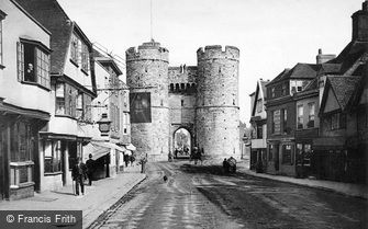 Canterbury, West Gate and St Dunstan's Street c1880