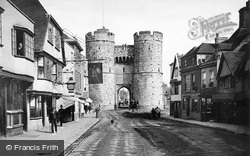 West Gate And St Dunstan's Street c.1880, Canterbury