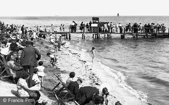 Canvey Island, Beach Scene c1955