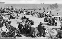 Canvey Island, Shell Beach Looking East c.1955