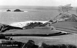 Cape Cornwall, And Brisons Rocks c.1955