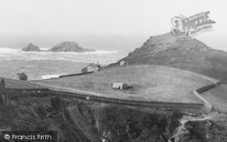 Cape Cornwall, And The Brisons c.1935