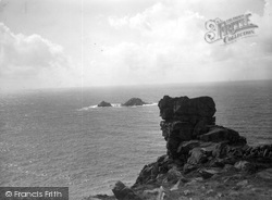 Cape Cornwall, Carn Gloose And The Brisons c.1932