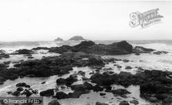 Cape Cornwall, Rough Sea 1955