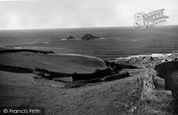 Cape Cornwall, The Brisons From Cape Cornwall c.1950