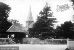 Capel, Church Of St John The Baptist And Lychgate 1903