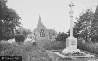 Capel, Church of St John the Baptist and War Memorial 1924
