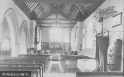 Capel, Church Of St John The Baptist, Interior c.1903