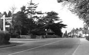 Capel, Crown Hotel And Main Road c.1955