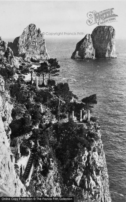 Photo of Capri, Faraglioni And Garden Of Augustus c.1930