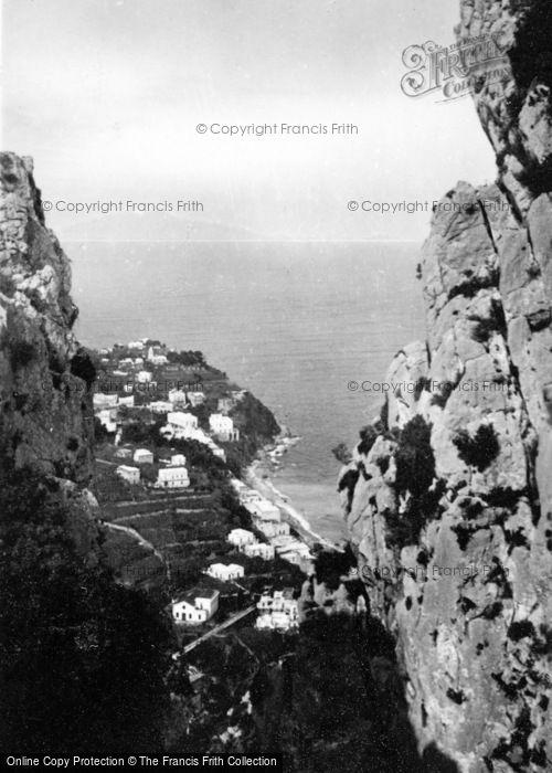 Photo of Capri, Marina Grande From Monte San Michele c.1930