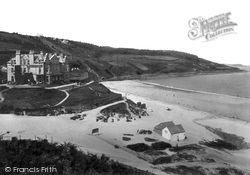 The Beach And Hotel 1922, Carbis Bay