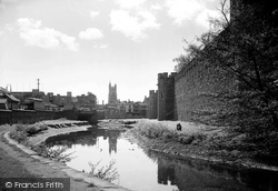 Cardiff, Castle And Canal c.1950