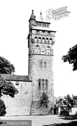 Cardiff, Castle Clock Tower c.1960