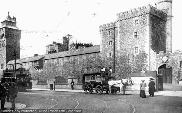 Cardiff, Castle, South Side c.1903