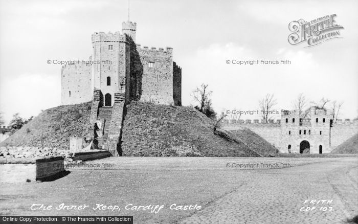 Photo of Cardiff, Castle, The Inner Keep c.1955