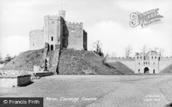 Cardiff, Castle, The Inner Keep c.1955
