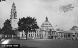 Cardiff, City Hall And Law Courts 1925