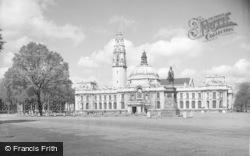 Cardiff, City Hall c.1955