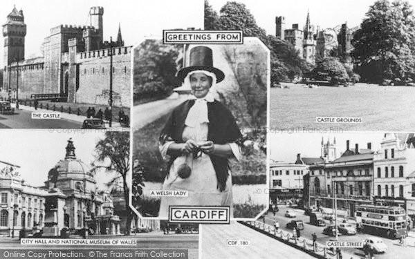 Photo of Cardiff, Composite c.1960