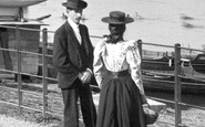 Cardiff, Couple by Roath Park Lake 1896
