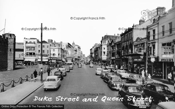 Photo of Cardiff, Duke Street And Queen Street c.1960