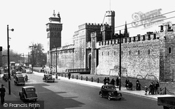 Cardiff, Duke Street And The Castle c.1955