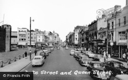 Cardiff, Dukes Street And Queens Street c.1960