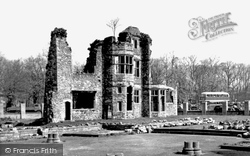 Cardiff, Friary Ruins, Cathays Park c.1955