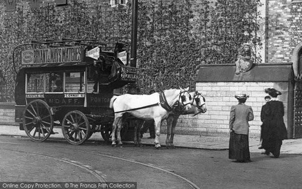 Photo of Cardiff, Horsedrawn Bus c.1903