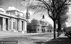 Cardiff, National Museum Of Wales And City Hall c.1950
