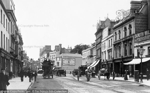 Photo of Cardiff, Queen Street 1893