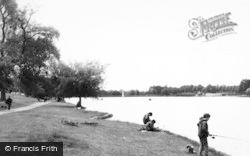 Cardiff, Roath Park Lake c.1965