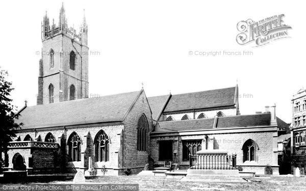 Photo of Cardiff, St John's Church 1893